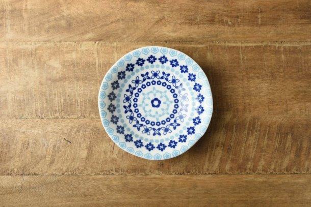 ブルーフラワー 16.7cm中サイズ深皿