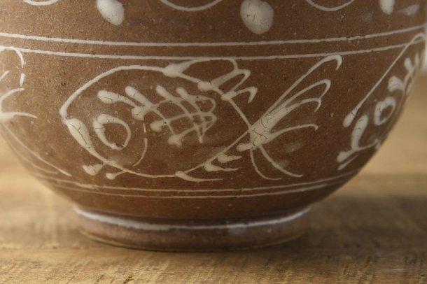 一珍魚紋 19cm高台丼ぶり