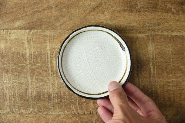 茶まき タタラづくりの10.7cm豆皿