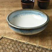 オーロラのような釉薬の流れが綺麗な大鉢