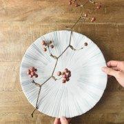 筆描きの清々しく趣深い大皿