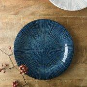 引き込まれるような深い青の趣深い大皿