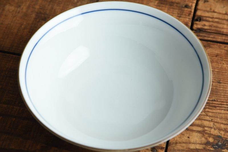 薄青磁ボーダー 19.5cmラーメン丼ぶり[B級品] - 業務用食器販売用食器 卸売のやまに