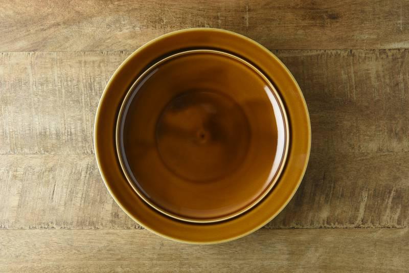 小田陶器 pratico(プラティコ) 24cmプレート キャラメル やまに