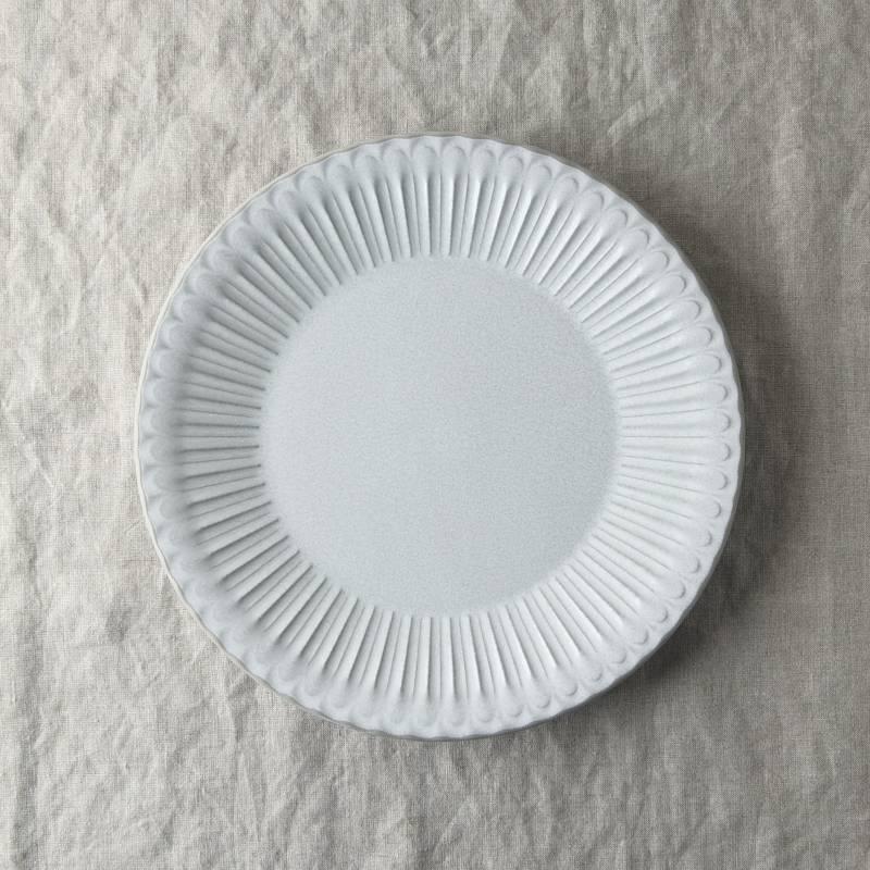 シュシュ・グレース 24cm皿 ラスティックホワイト やまに