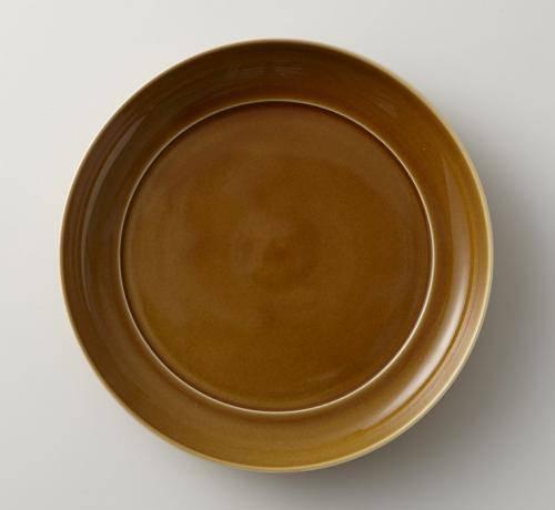深山(miyama.) 瑞々 まる皿 7寸 うす飴(21cm) やまに